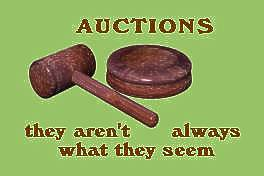 Auctioneer's gavel and block