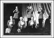 brass section of the RAOC Blue Rockets