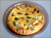 Broccoli and Cheese Crust-less Quiche