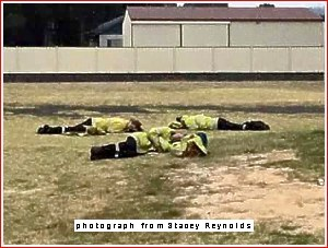 fire-fighters resting