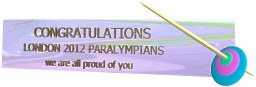 Congratulations London 2012 Paralympians