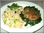 Peking Pork and Fried Rice