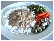Tender Beef Stroganoff with vegetables