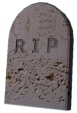 tombstone carved: RIP